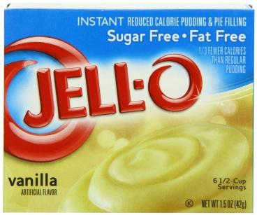 Jell O Jello Instant Sugar Free Fat Free Instant Vanilla